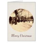 Washington DC del vintage en tarjeta de Navidad de
