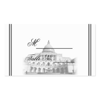 Washington DC Destination Wedding Place Card Double-Sided Standard Business Cards (Pack Of 100)