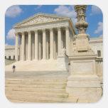 Washington, DC, edificio del Tribunal Supremo Pegatinas Cuadradases Personalizadas