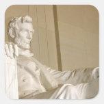 Washington, DC, el Lincoln memorial Calcomanías Cuadradass