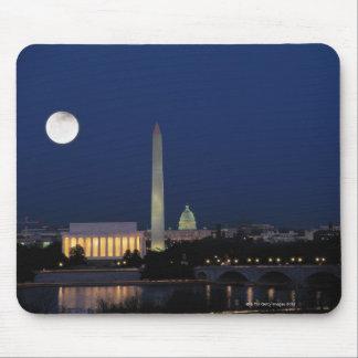 Washington DC en la noche Alfombrillas De Raton