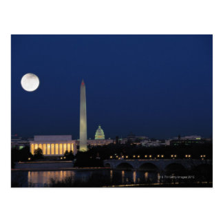 Washington DC en la noche Postal