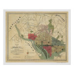 Washington DC Environs Map by Silversparre 1887 Posters
