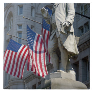 Washington, DC, estatua de Benjamin Franklin Azulejo Cuadrado Grande
