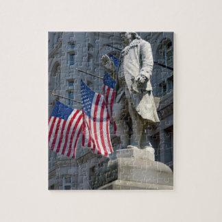 Washington, DC, estatua de Benjamin Franklin Rompecabeza Con Fotos