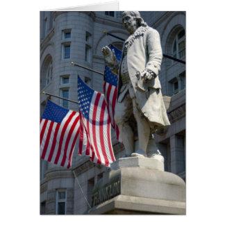 Washington, DC, estatua de Benjamin Franklin Tarjeta De Felicitación