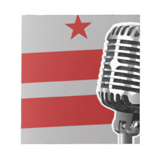 Washington DC Flag And Microphone Notepad