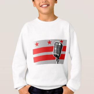 Washington DC Flag And Microphone Sweatshirt