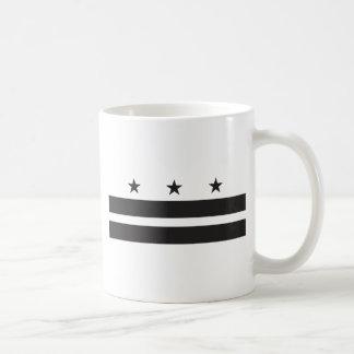 Washington DC Flag - Black Coffee Mug