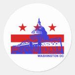Washington DC Flag Classic Round Sticker