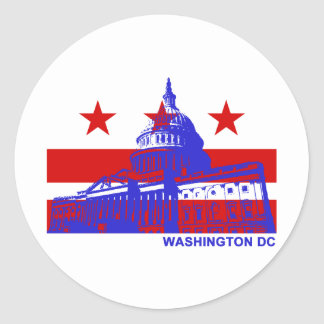 Washington DC Flag Classic Round Sticker