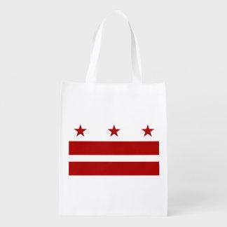 Washington DC Flag Grocery Bags