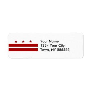 Washington DC Flag Label