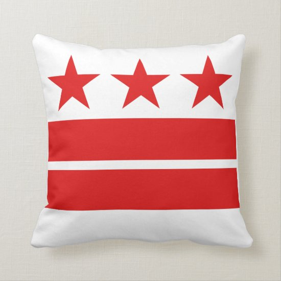 Washington DC Flag Pillow