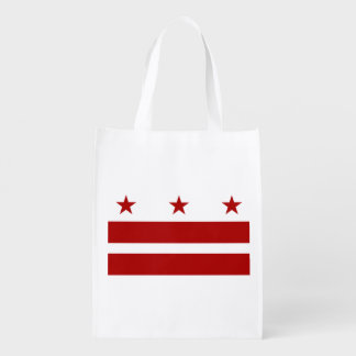 Washington DC Flag Reusable Grocery Bag