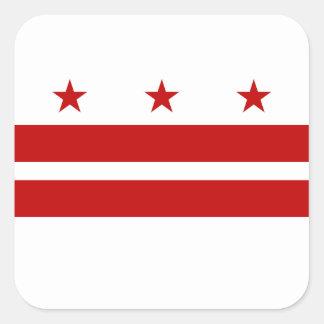 Washington DC Flag Square Sticker