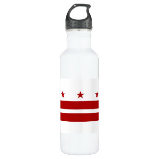 Washington DC Flag Stainless Steel Water Bottle