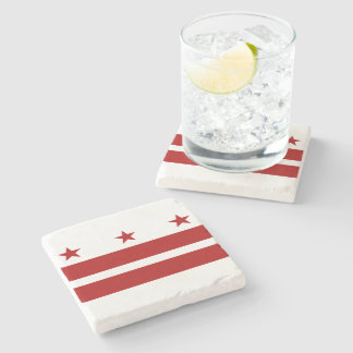 Washington DC Flag Stone Coaster