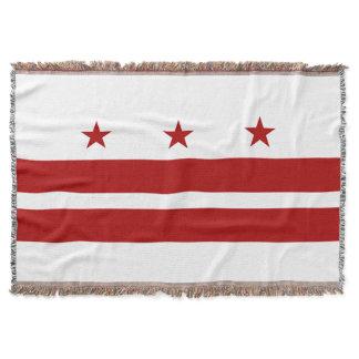 Washington DC Flag Throw Blanket