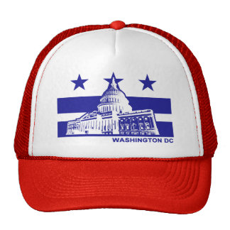Washington DC Flag Trucker Hat