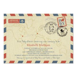 Washington DC / France Airmail   Baby Shower Card