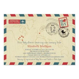 Washington DC / Germany Airmail   Baby Shower Card