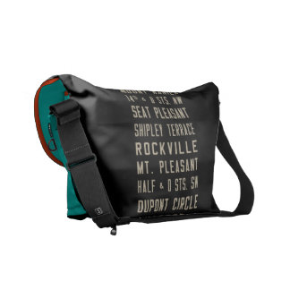 Washington DC GM Bus Scroll Messenger Bag