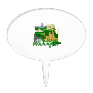 washington dc  green america city travel vacation. cake topper
