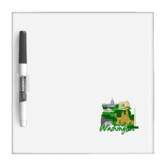 washington dc  green america city travel vacation. dry erase boards