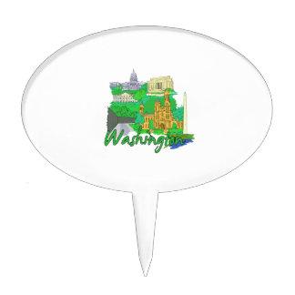 washington dc green america city travel vacation.p cake topper