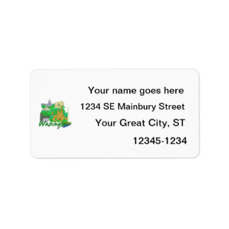 washington dc green america city travel vacation p custom address label