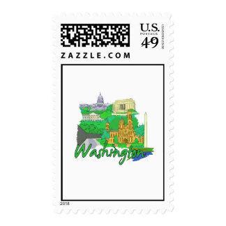 washington dc green america city travel vacation p stamps