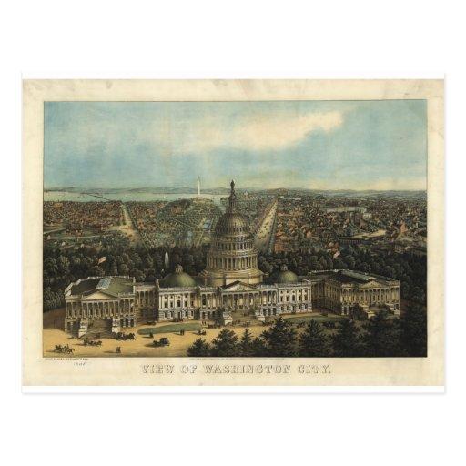 Washington DC in 1871 Postcard