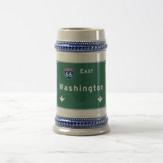 Washington dc Interstate Highway Freeway Road : Beer Stein