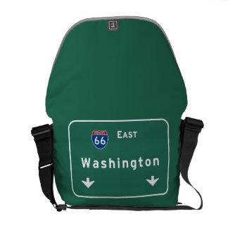 Washington dc Interstate Highway Freeway Road : Courier Bag