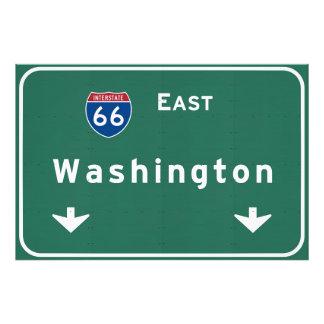 Washington dc Interstate Highway Freeway Road : Photo Print