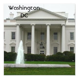 "Washington DC Invitación 5.25"" X 5.25"""