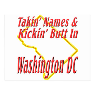 Washington DC - Kickin' Butt Postcard
