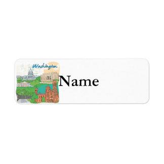 Washington DC Custom Return Address Labels