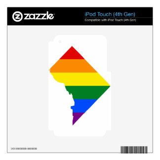 Washington DC LGBT Flag Map iPod Touch 4G Decal