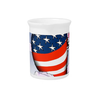 Washington DC loud and proud, tony fernandes Beverage Pitcher