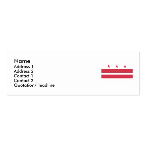 Washington DC  Map and Flag Business Card Templates