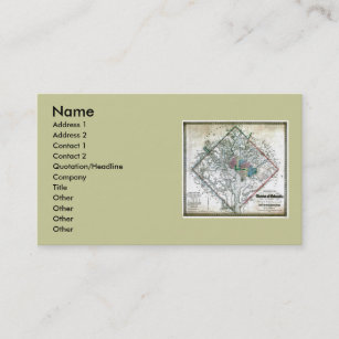 Washington dc business cards zazzle washington dc map and flag business card reheart Gallery