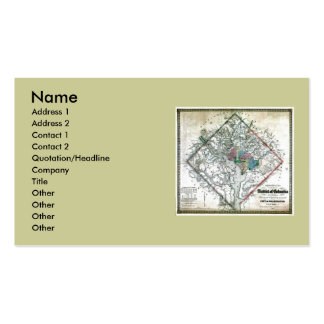Washington DC  Map and Flag Business Card Template