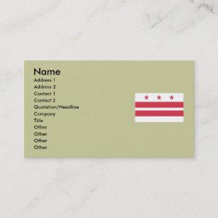 Washington dc flag business cards zazzle washington dc map and flag business card reheart Gallery