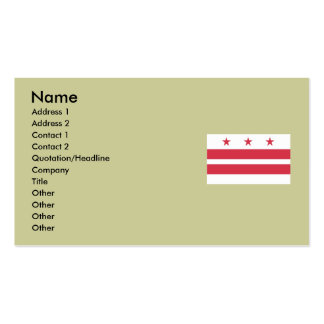 Washington DC  Map and Flag Business Card Templates