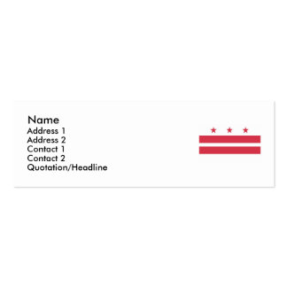 Washington DC  Map and Flag Double-Sided Mini Business Cards (Pack Of 20)