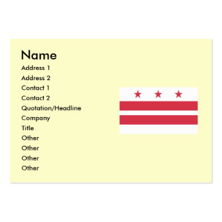 Washington DC  Map and Flag Large Business Cards (Pack Of 100)
