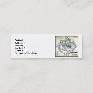 Washington dc flag business cards zazzle washington dc map and flag mini business card reheart Gallery