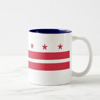 Washington DC  Map and Flag Two-Tone Coffee Mug